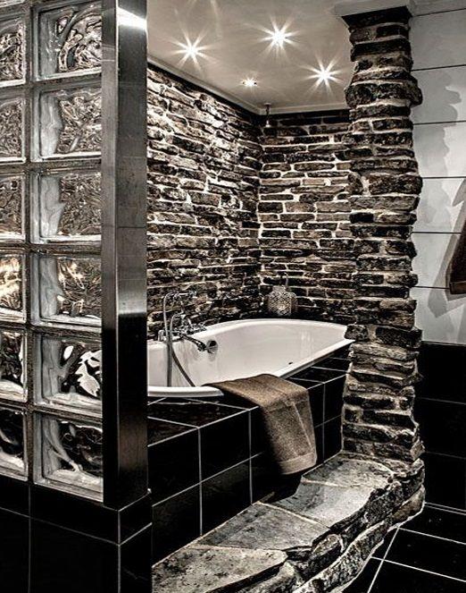 Mettons des briques de verre dans la salle de bains Bath, Toilet - Pose Brique De Verre Salle De Bain