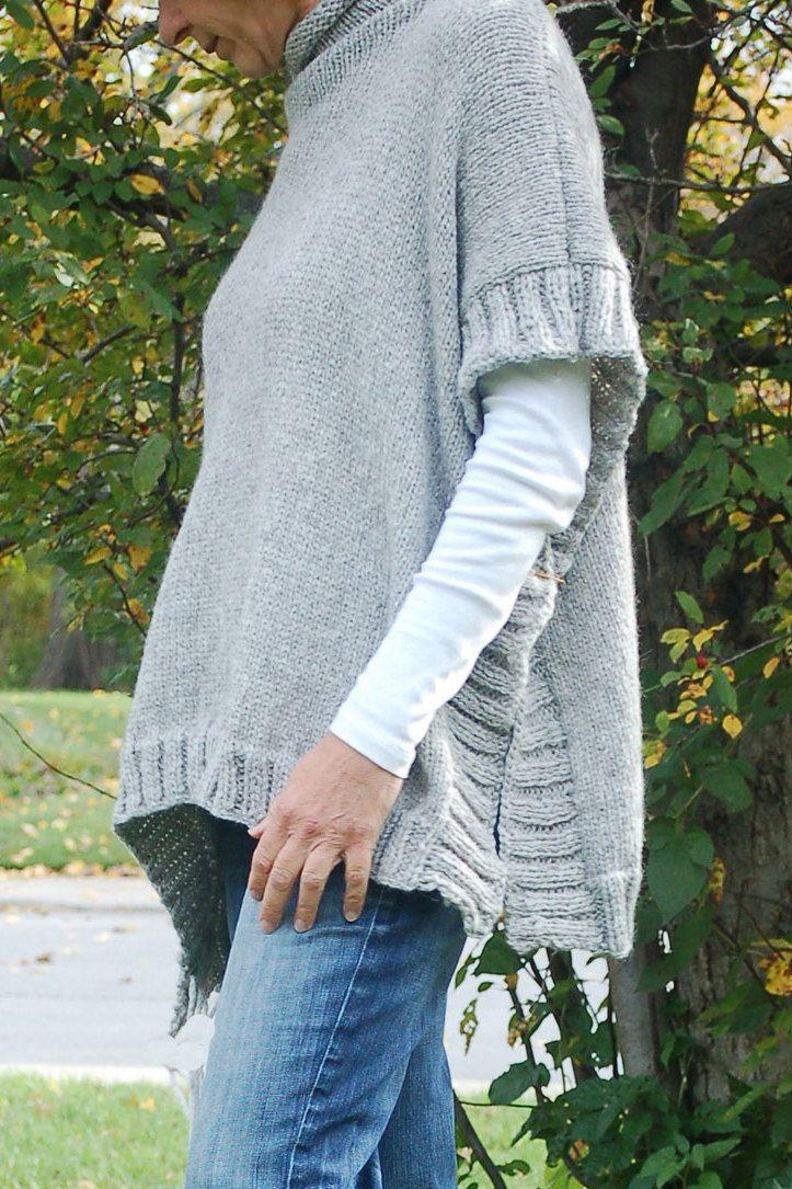 Easy to knit poncho pattern, Knit poncho, Simple to knit poncho ...