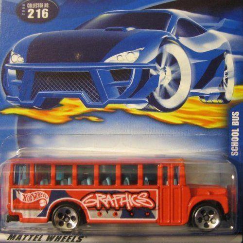 Hot Wheels 2000-216 Red School Bus 1:64 Scale By Mattel