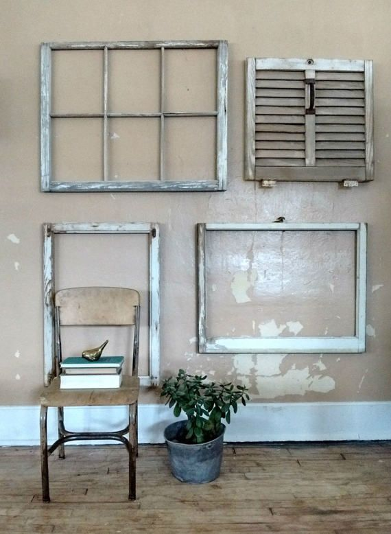 Sale 20 Off Salvaged Window Frame Large Antique Window Frame