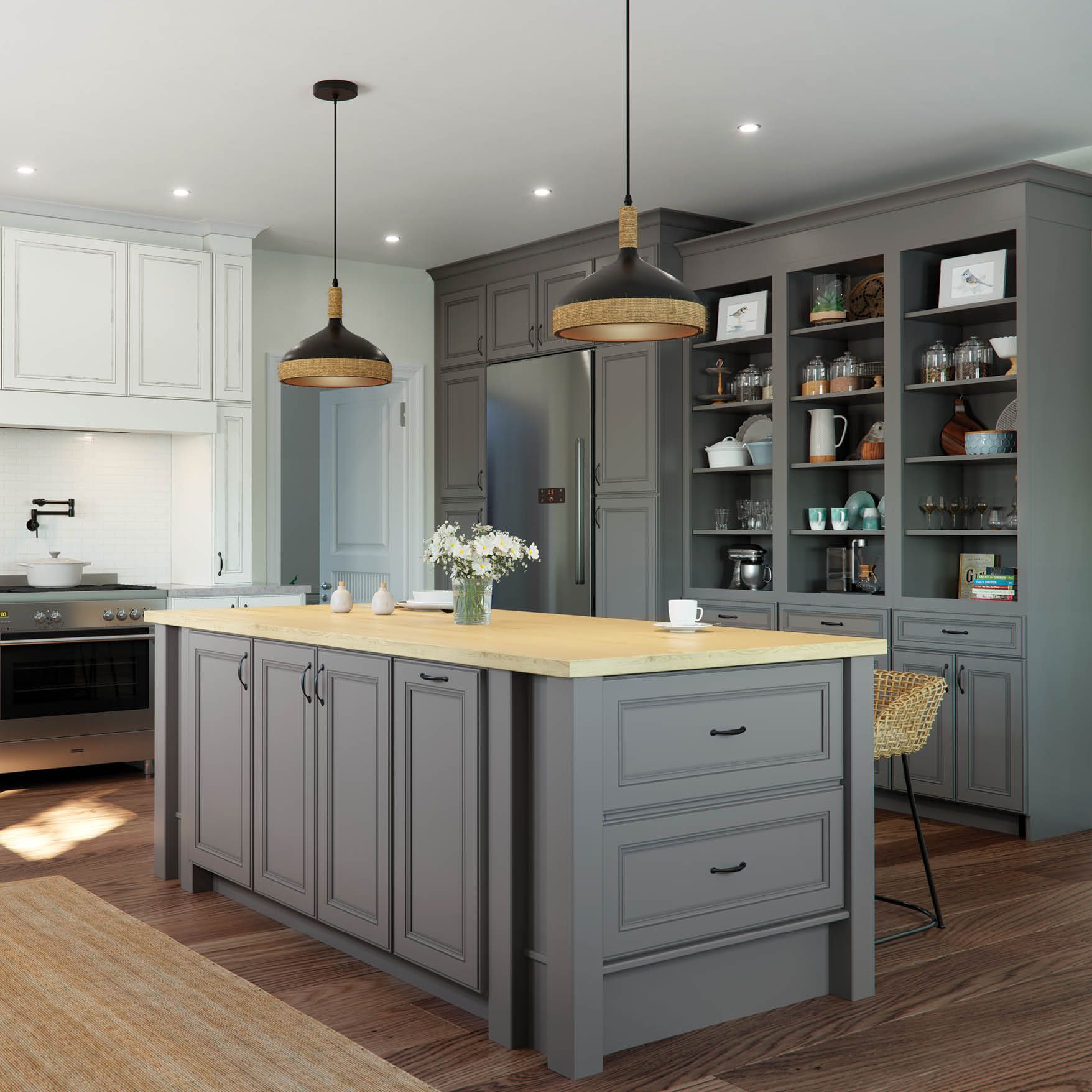 Dramatic 750 Painted Boulder Cabinets Evoke Memories Of The Foggy Mornings On Nantucket This Seafaring Style Is Fil Kitchen Inspirations Cabinet Cabinet Doors