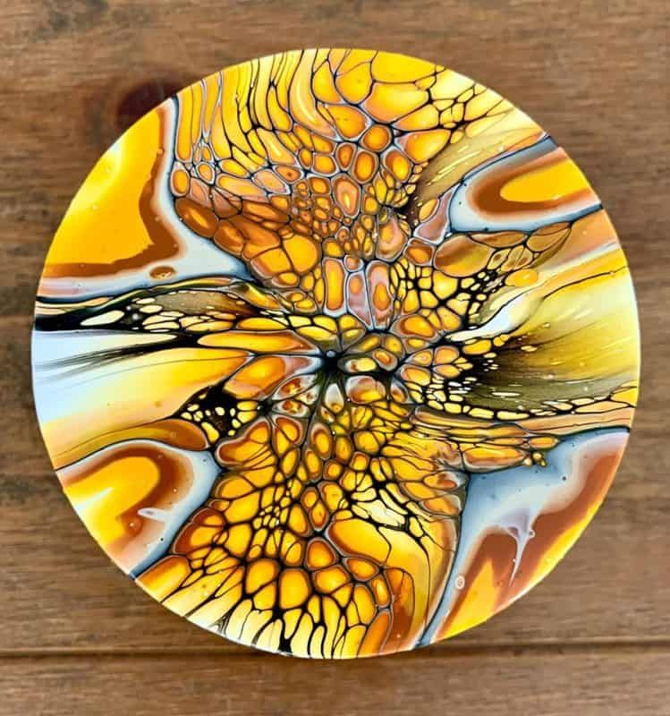 5 acrylic pours on wood thatll make you trash that canvas