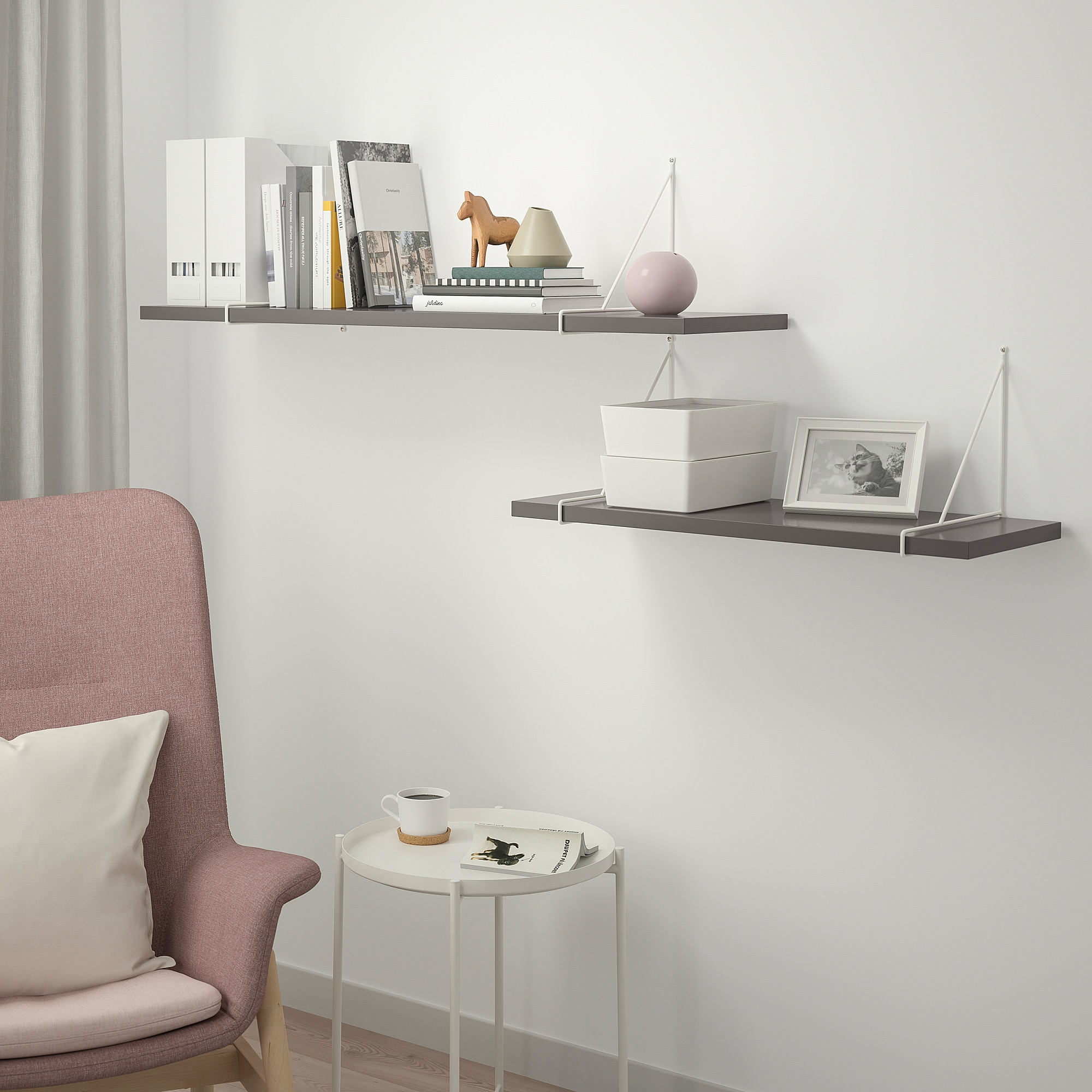 Awesome Ikea Bergshult Pershult Wall Shelf Combination Dark Gray Download Free Architecture Designs Aeocymadebymaigaardcom