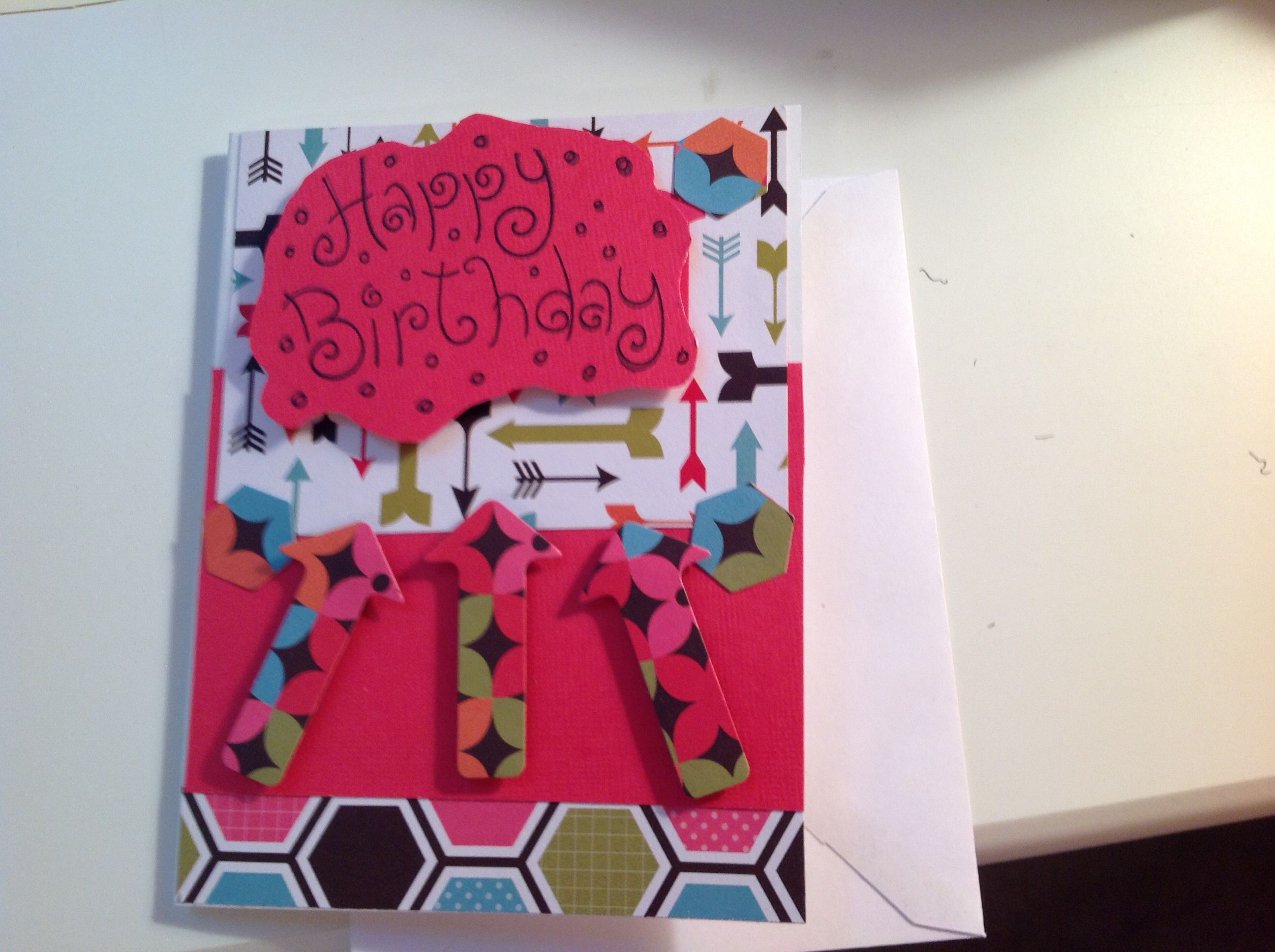 Stamped And Die Cut Birthday Card For 7 Year Old Boy Cards I Made