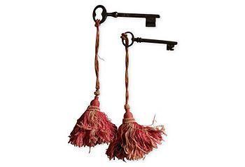 I'm attaching tassels to all my skeleton keys! Genius.