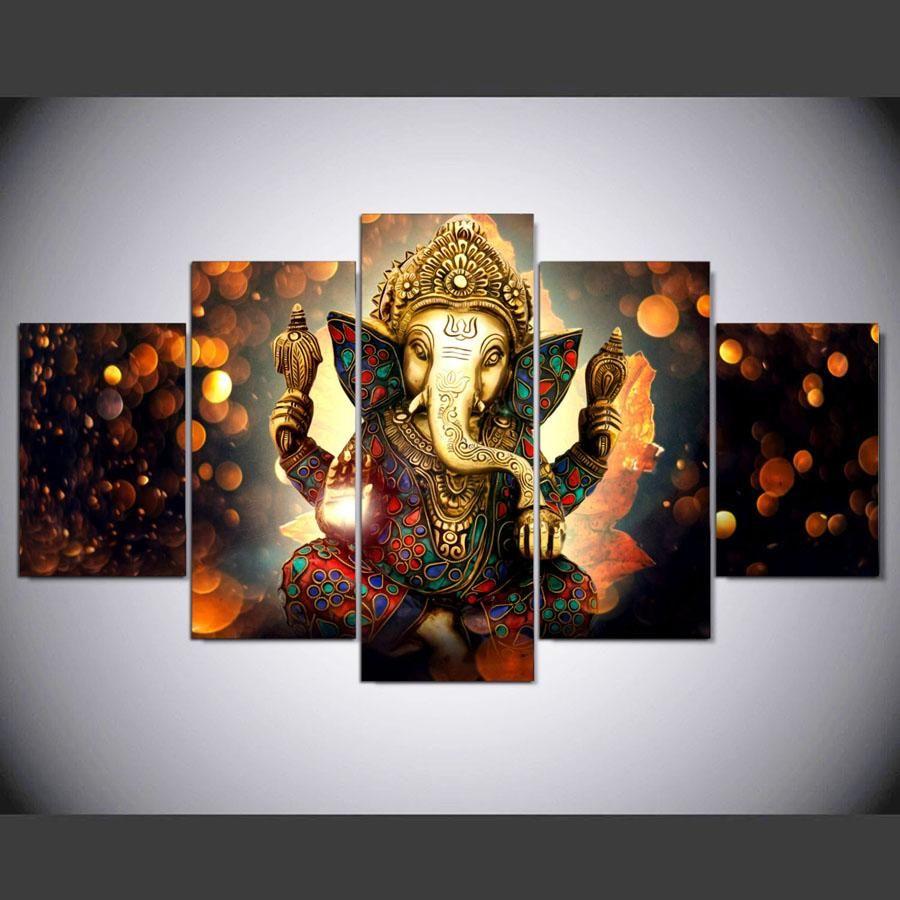 Elephant Wall Art Canvas Ganesha Painting Ganesha Pictures