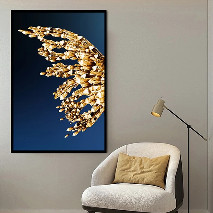 Modern Golden Butterfly And Wings Canvas Painting Wall Decor Diy Canvas Art Canvas Painting Abstract Painting