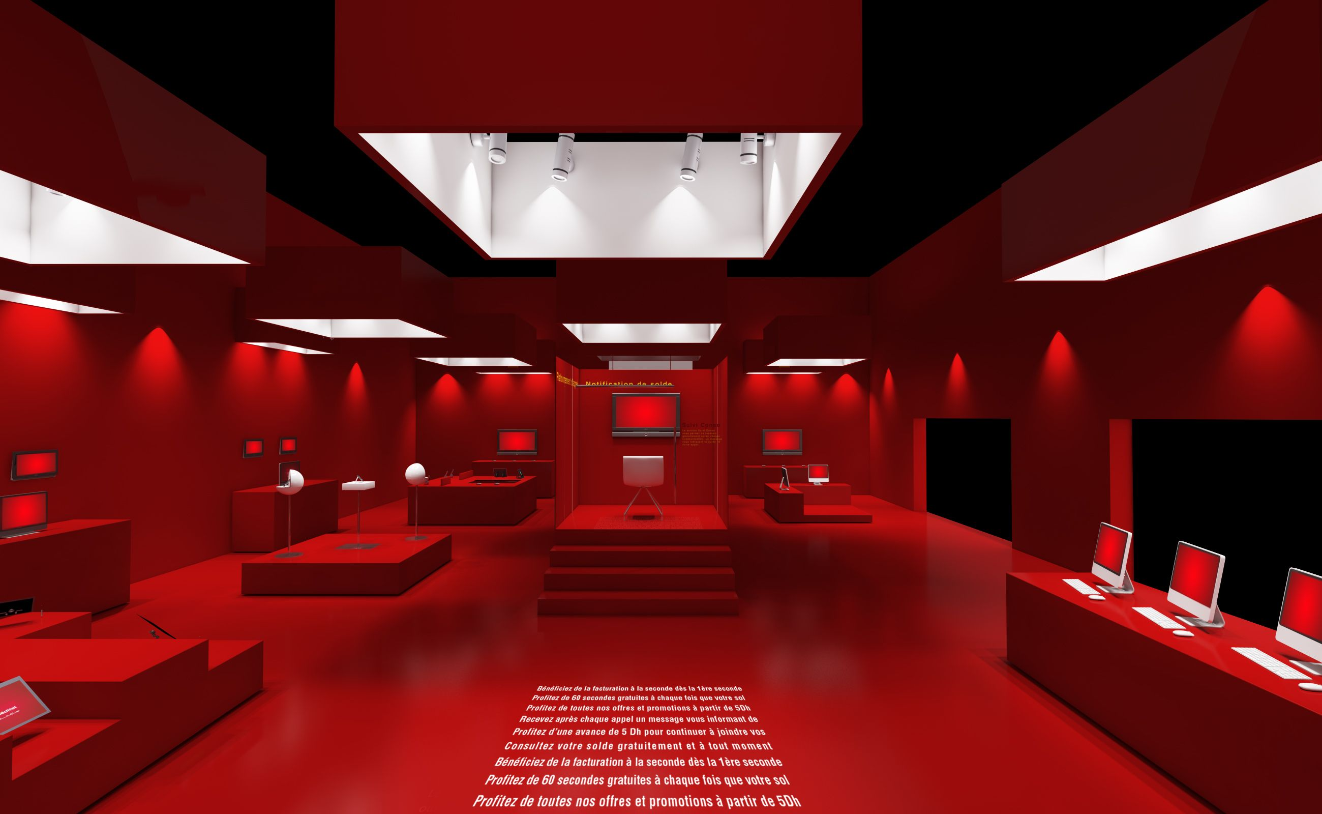 D Max Exhibition Models : D red exhibition stand vray render exhibition red stand