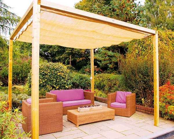 20 DIY Outdoor Curtains Sunshades and Canopy Designs for Summer Decorating : outdoor gazebo canopy - afamca.org