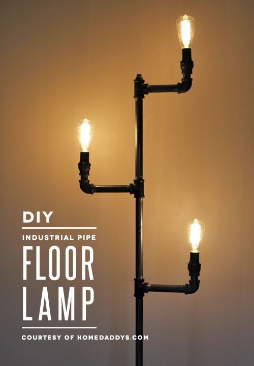 How-To: Industrial Pipe Floor Lamp | Projects to Try | Pipe