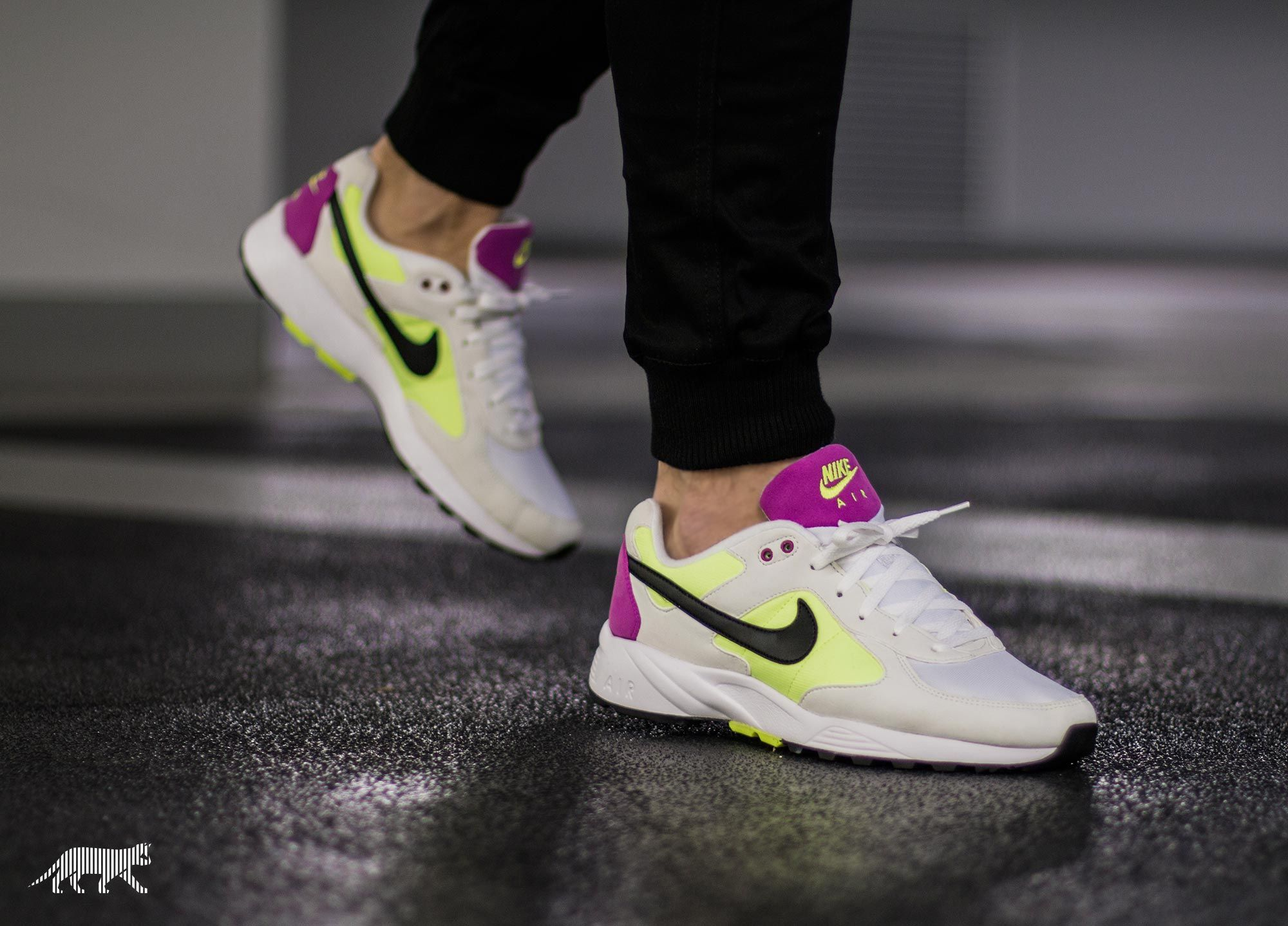 On foot shots of the retro Nike Air Icarus Summit White. Coming February.