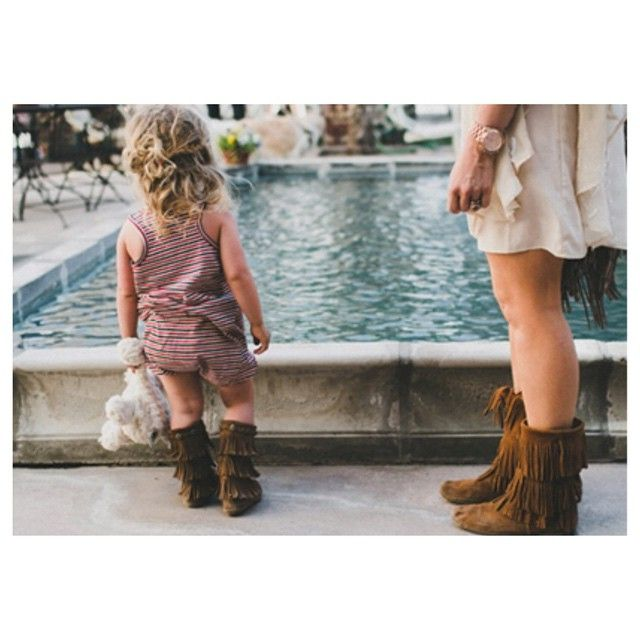 476ce77810ffc 3-layer fringe boot by minnetonka. Available in youth and toddler ...