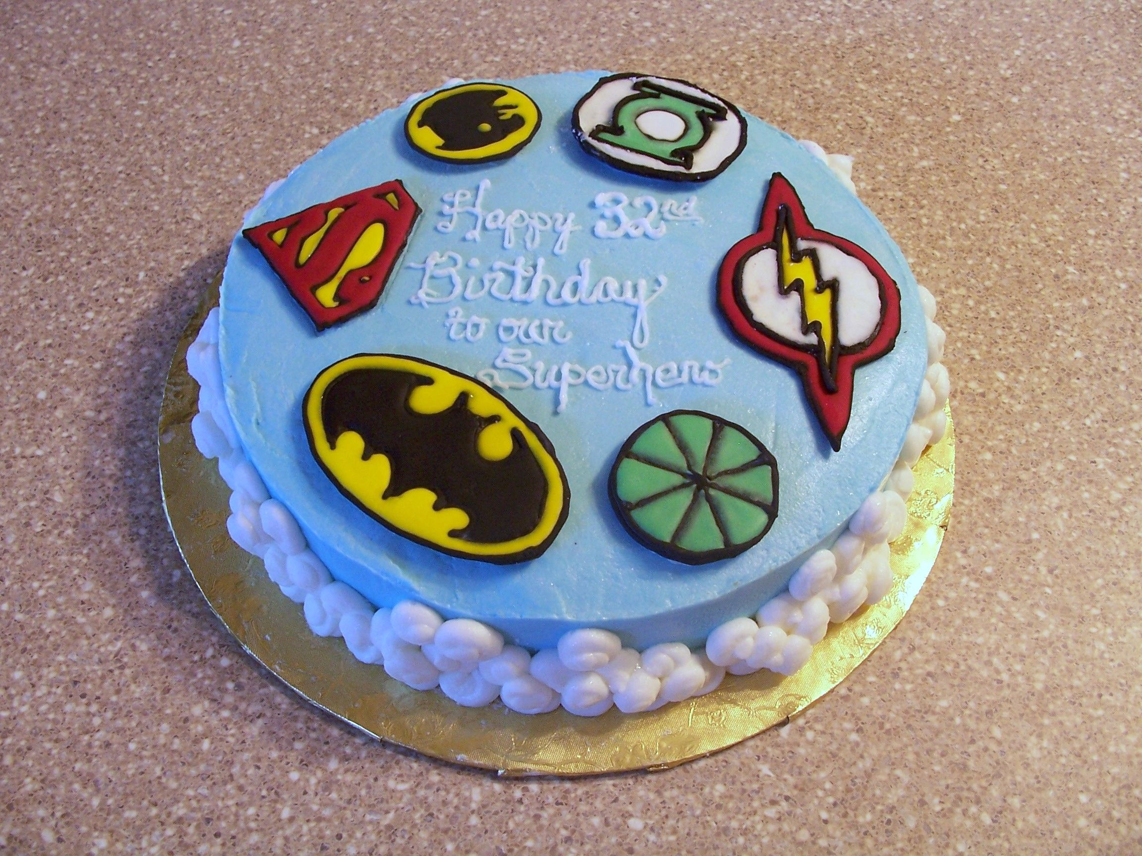 Justice League Birthday Cake - Cake for husband, who happens to love ...