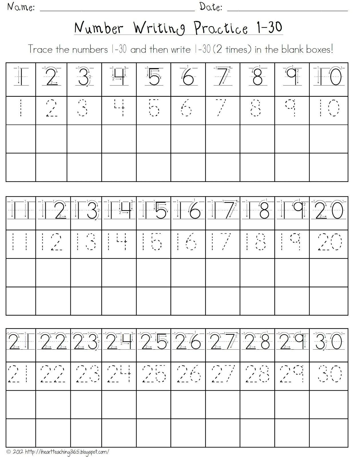 Teach Child How To Read Printable Number Tracing