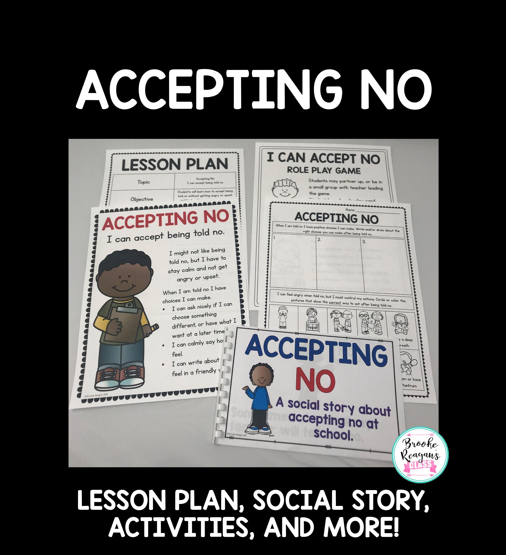Social Skills Lesson Accepting No
