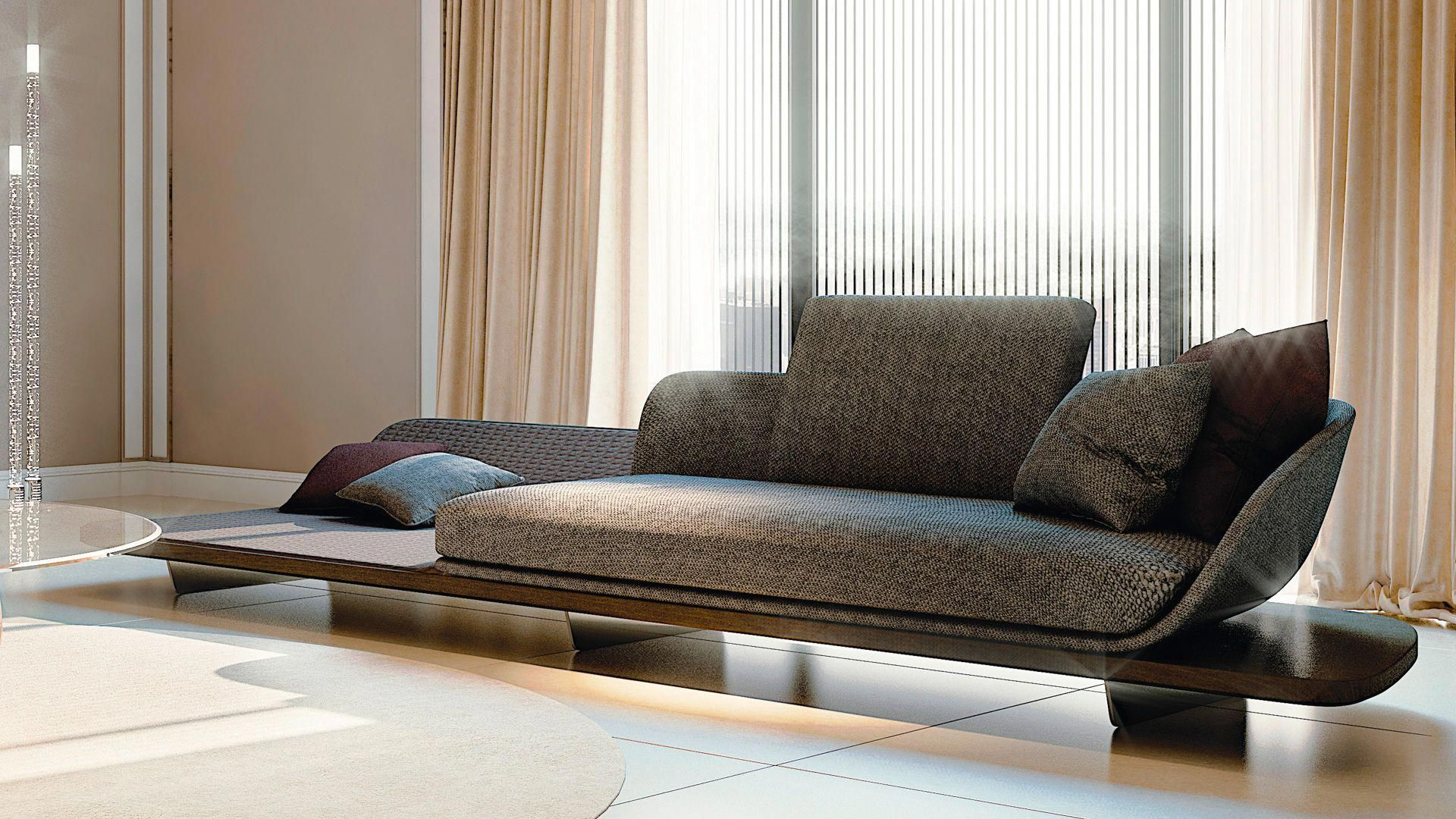 HighEnd Italian Segno Chaise Lounge Italian Designer