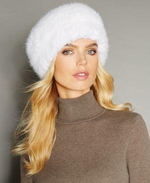 805fe939848 The Fur Vault Knitted Mink Fur Headband - White