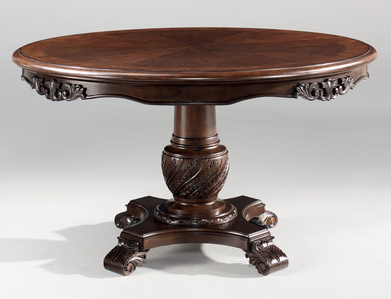 Pedestal Round Dining Eoom Tables  North Shore Round Pedestal Pleasing Clearance Dining Room Sets Design Inspiration
