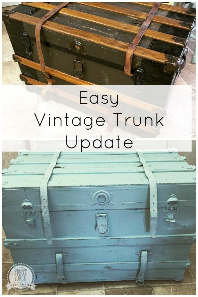 Luxury Updated and reimagined trunk from Front Porch Mercantile featuring FAT Paint Plan - Amazing trunk luggage Awesome