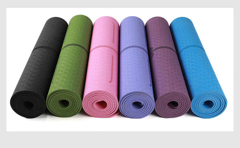 1830*610*6mm TPE Yoga Mat with Position Line Non Slip Carpet Mat ...