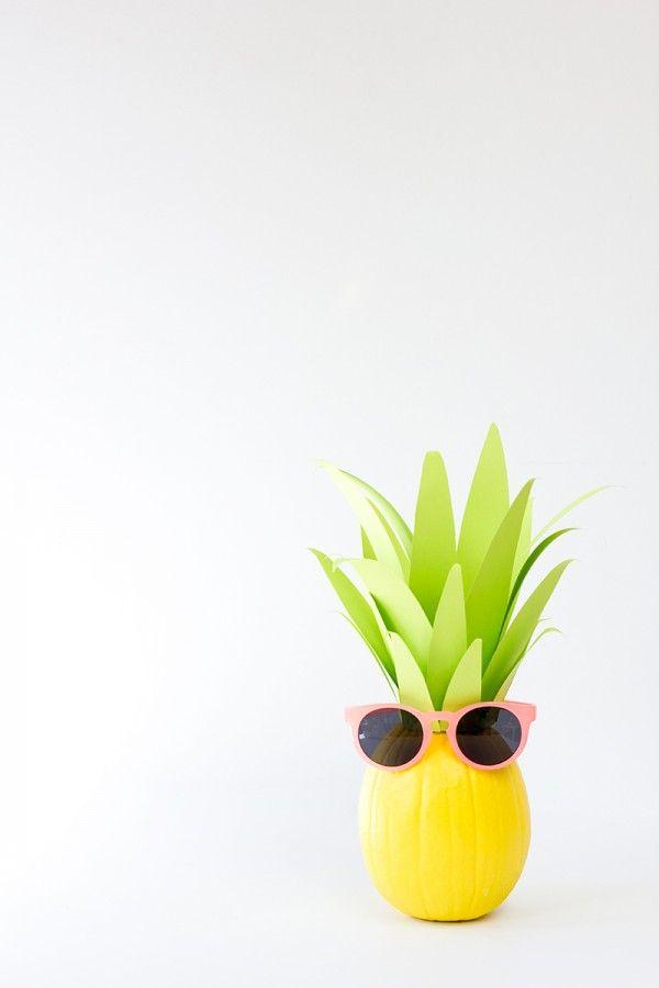DIY Pineapple Pumpkin diy Pinterest