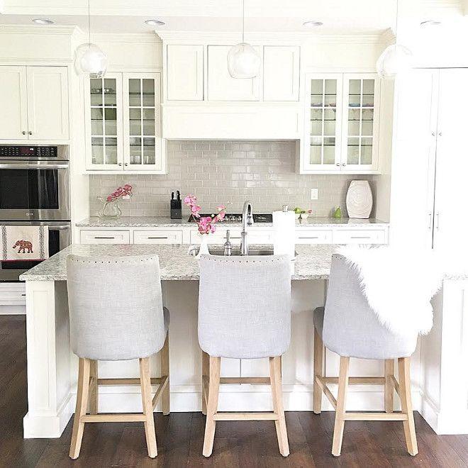 fascinating Neutral Kitchen Paint Colors Part - 6: Neutral kitchen paint color. The neutral kitchen paint color is Benjamin  Moore OC-17 White Dove and Neutral backsplash is Casabella Tile H-Line  Collection, ...