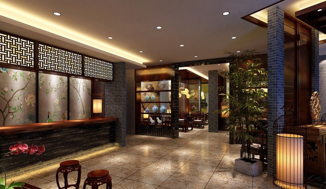 Chinese Interior Design Concept Rendering