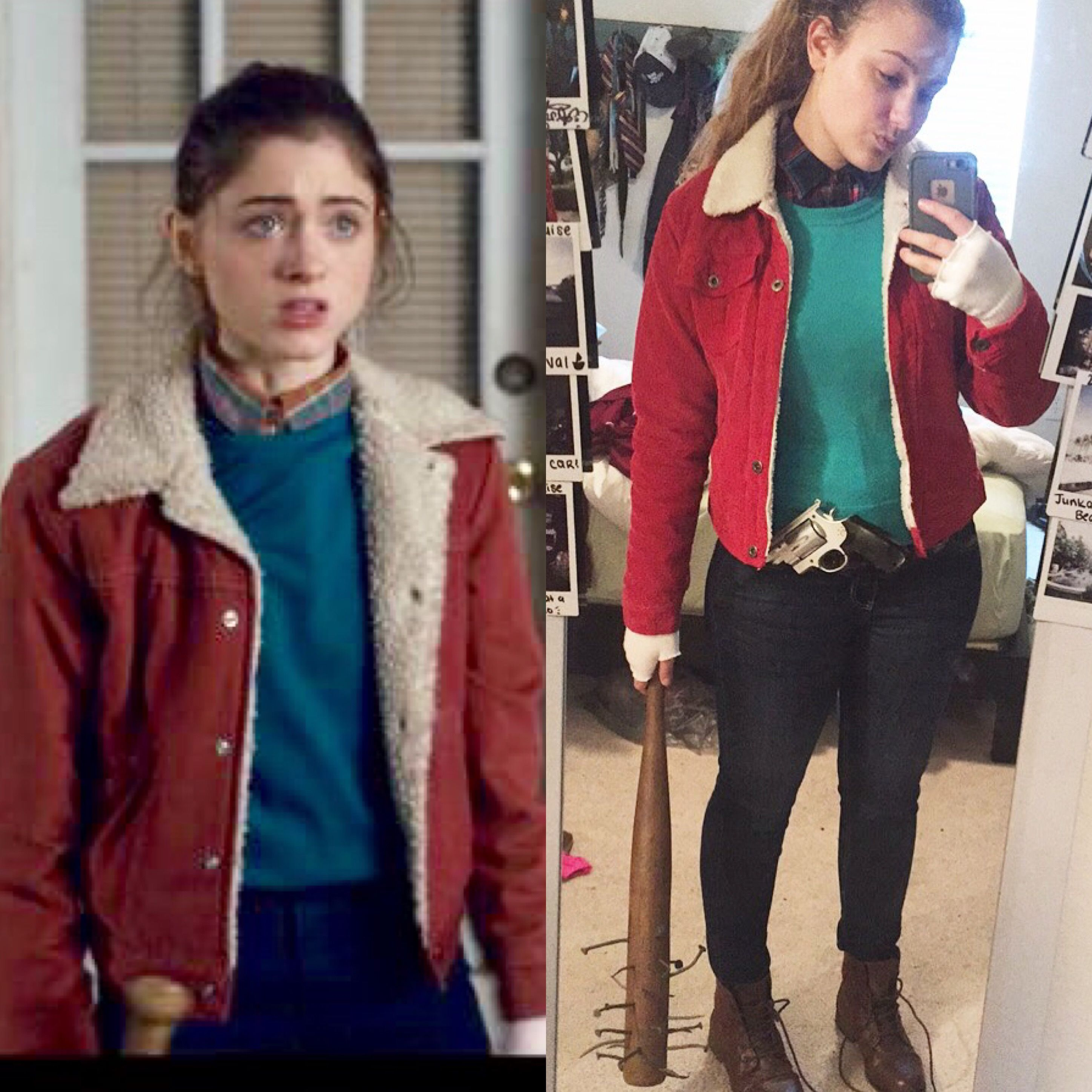 My nancy wheeler cosplay from stranger things complete with steveus