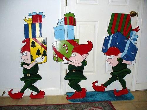 CHRISTMAS ELVES | Christmas yard art, Christmas yard ...