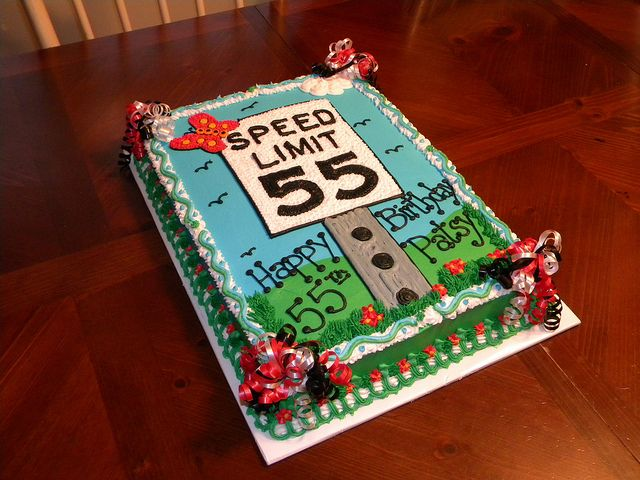 Speed Limit 55 Birthday Cake With Images 55th Birthday Adult