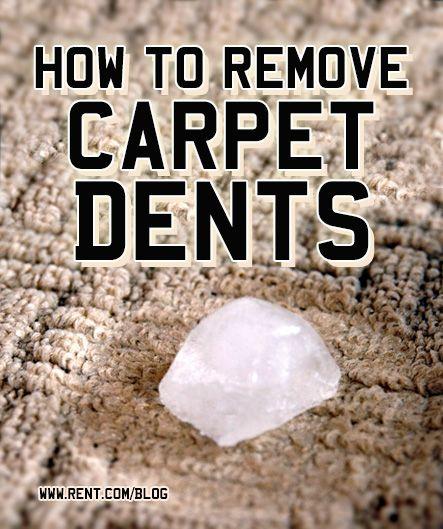 How To Remove Carpet Dents Carpet Dent Removing Carpet How To Clean Carpet
