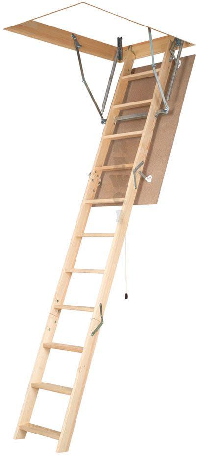Wooden Basic Attic Ladder   Various Sizes $155.00