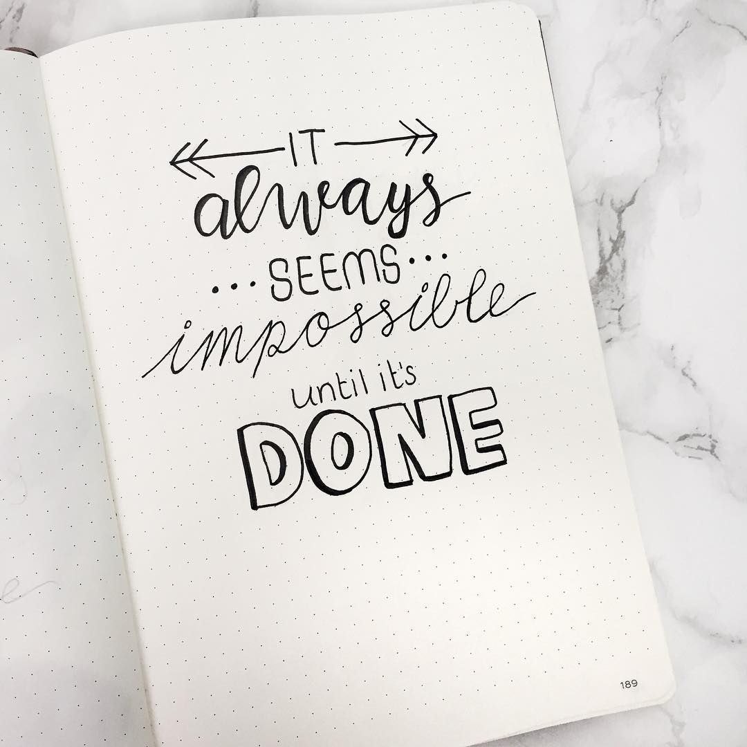 5 Inspirational Quotes For Your Bullet Journal • Journaling My