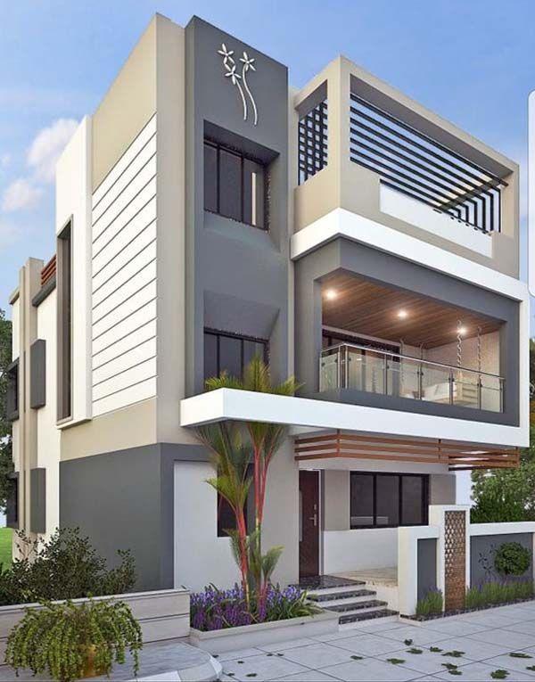Modern Home Exterior Color That Your Home Inspiration Small House Design Exterior House Designs Exterior Duplex House Design