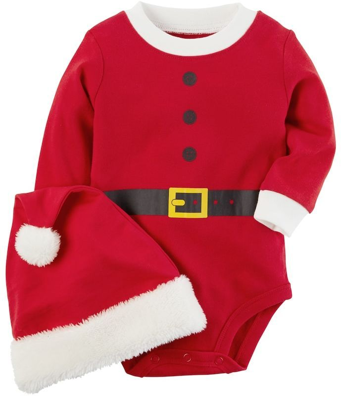 3c9df4b96 So cute for Christmas and the holiday season. Santa onesie for baby ...