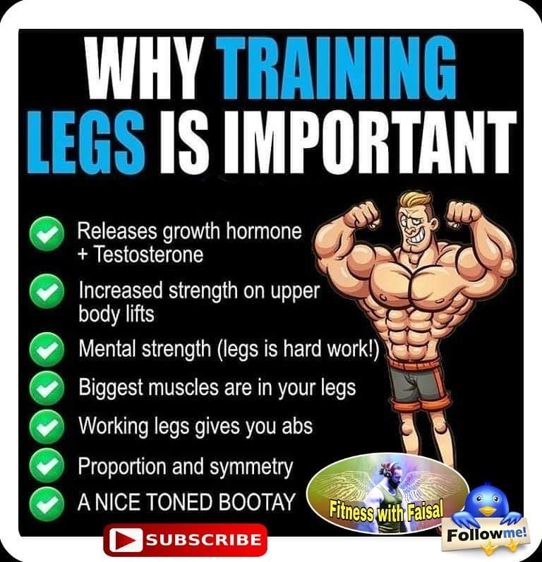 Almost 50% of our muscles lies in legs which includes the largest group of muscle e.g glutes.  We ig...
