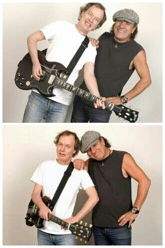 Angus Young and Brian Johnson of AC/DC