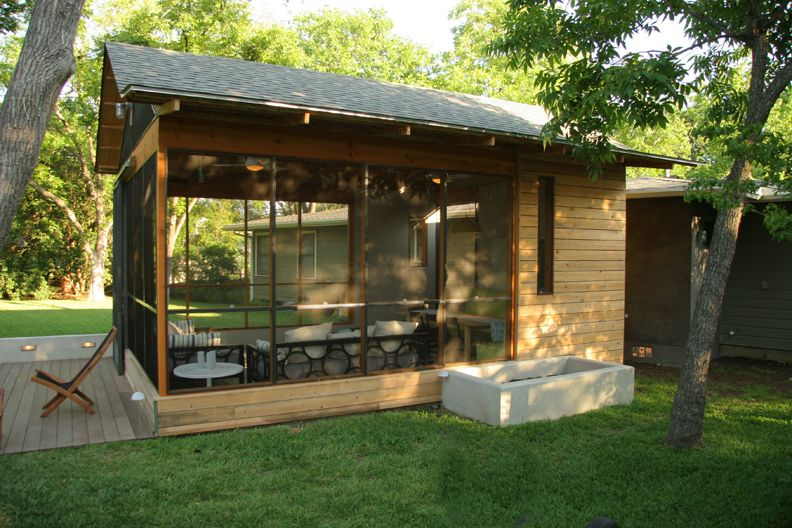 exceptional detached screen porch #4: outdoor living recycle material cypress cast concrete
