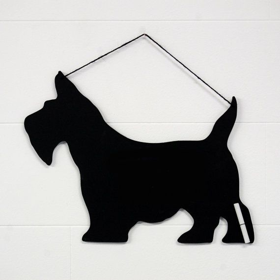 Scottie Dog Chalkboard For Open Close Sign