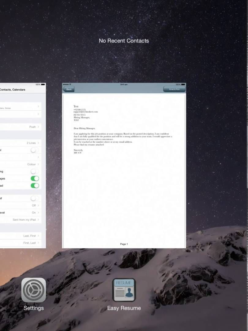 Resume Builder Email Sending Video itunes apple iPhone