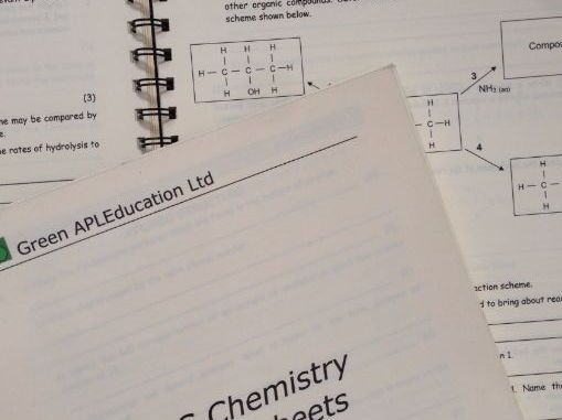 Chemistry A Level Homework Package Chemistry Homework And Worksheets