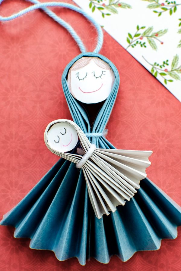 DIY Mary and Jesus Christmas Ornament Craft for Kids