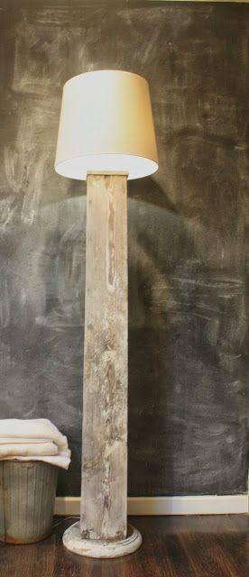 Thrifty Thursday Make A Column Lamp Diy Floor Lamp Diy Lamp