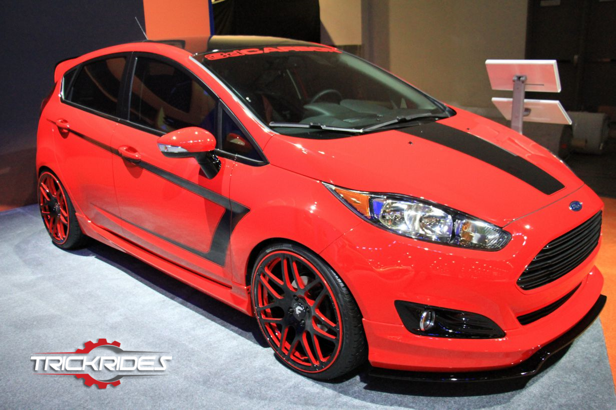 Ford Fiesta St At Sema Trickrides Sema Customcars