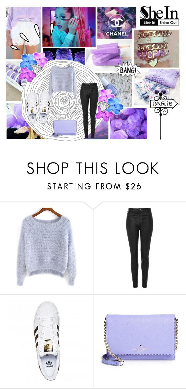 """""""Untitled #55"""" by danyyia ❤ liked on Polyvore featuring moda, Nicole Miller, Topshop, adidas Originals, Kate Spade ve Old Navy"""