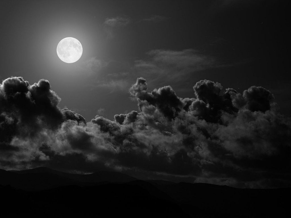 Black Clouds Full Moon Hd Desktop Wallpaper Full Moon