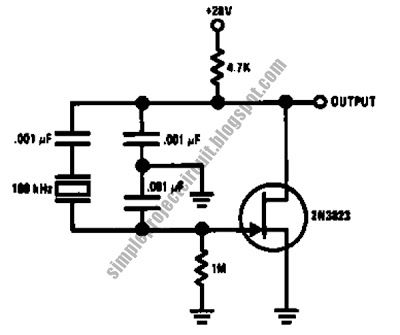 Simple Stable Low Frequency Crystal Oscillator Circuit Electronic