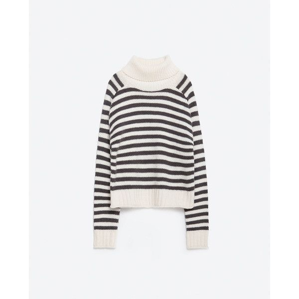 00b151c4 Zara High Neck Sweater (125 RON) ❤ liked on Polyvore featuring tops,  sweaters