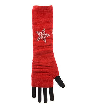 Red Sequin Star Arm Warmers #zulilyfinds