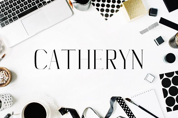 Download Catheryn Serif 4 Font Family Pack (With images) | Pretty ...
